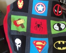 DeadPool baby, Iron Man blanket, Punisher blanket, Marvel Avengers bedding, Superhero blanket, DC Comic blanket, Marvel Avengers blanket