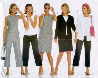 Butterick 6942 Misses/Petites Jacket, Top, Skirt, Pants Vacation or Resort Womens Sewing Patterns Size 12 14 16 UNCUT