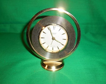 One (1), Model 2233, 7 Jewel, Desk/Mantel Alarm Clock, from the  Endura Watch Co., of France. Original Box.