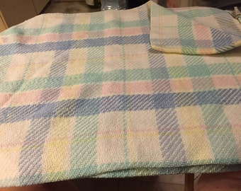 Pastel Plaid Baby Blanket