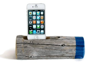 Docking Station / Painted Driftwood - Sailboat Blue