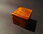 Cool Old African Exotic Bubinga Wood Treasure Box Holds Postage Stamp Roll
