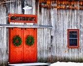 Barn with Wreaths