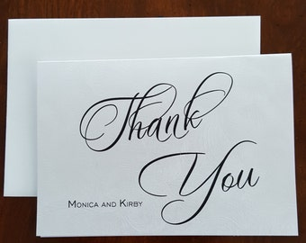 Thank You Cards, Silver Embossed Thank You Cards