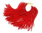 Red Fringe Hoops