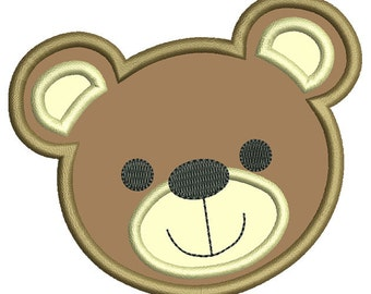 Teddy Bear Applique Embroidery Design- Instant Download