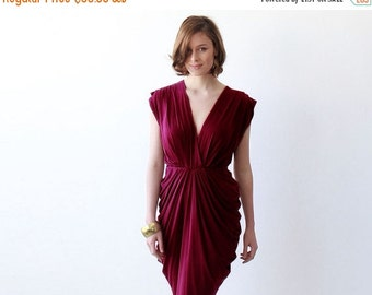Wine red maxi formal dress , Maxi Bordeaux open back gown