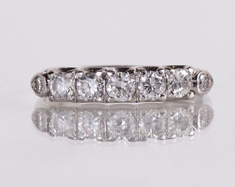 Vintage Wedding Band - Vintage Platinum Diamond Wedding Band