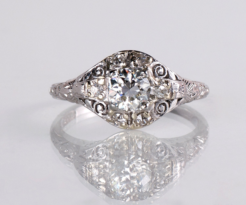 Vintage Bands: Antique Engagement Ring Antique 1920's