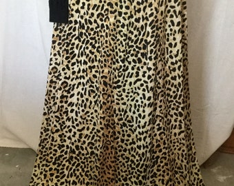 "1950's leopard nylon full length  waist 34""  in great condition"