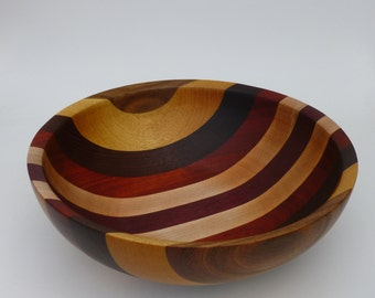 Wooden Bowl Segmented Hand Made Wood Bowl