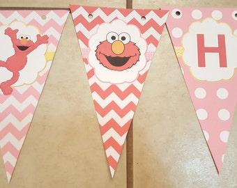 Elmo birthday banner | Elmore banner