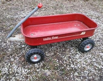 Vintage Radio Flyer Wagon - Radio Flyer Wagon - Radio Flyer 7 Wagon - Little Red Wagon - ###REDUCED###