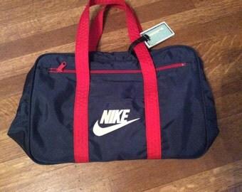 SAle / Vintage NIKE Gym Bag / 1980's NIKE / Made in Taiwan ROC