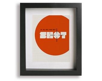 Hit Me With Your Best Shot inspired song lyric art - Music Poster Art Print, modern minimalist, song lyric art, framed wall art