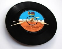 "Aretha Franklin Vinyl Record CLOCK ""Until You Come Back To Me"" vinyl 7"" single Orange and Blue Atlantic label retro soul sister brother"