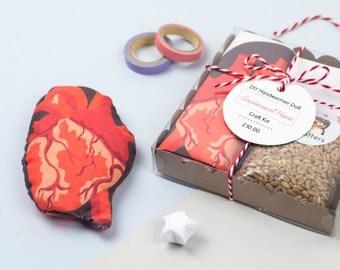 DIY Anatomical Heart Handwarmer Doll Craft Kit