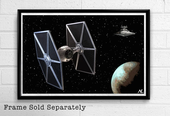 Star wars empire tie fighter sci fi film home decor movie pop for Sci fi home decor