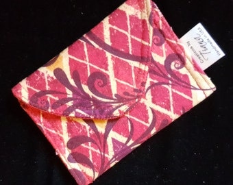 Small pouch, Business Card case/pouch, Gift card case, Small case, handmade, Red case