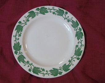 Royal China Green Ivy Cream plate 9 3/4 inches