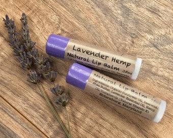 All Natural Lavender Hemp Lip Balm- Healing and Moisturizing
