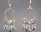 Chandelier with blue sapphire and blue topaz Calypso 28