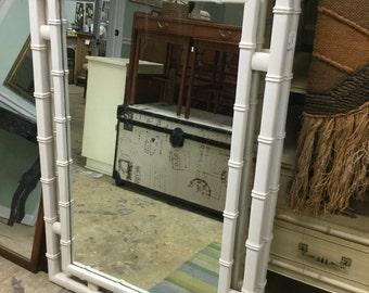 Classic Faux Bamboo Geometric Mirrors, Pr