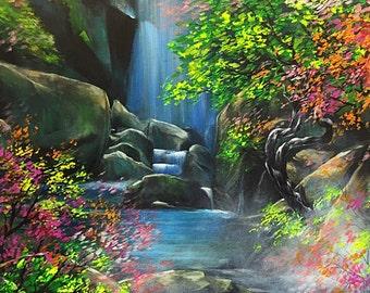 "Window of Happiness - 30""x24""x1.5""Acrylic on Canvas"