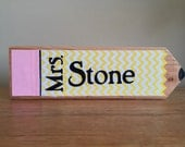 Personalized teacher gift - Personalized wood name block - personalized Principal gift - wood teacher sign - name plaque -teacher plaque