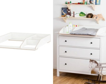 Compact wrapping attachment with compartment for IKEA HEMNES chest of drawers / white