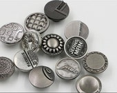 6 Pcs 0.67~0.71 Inches High-grade Silver/Gun Swivel Snap Fastener Metal Shank Buttons For Jeans