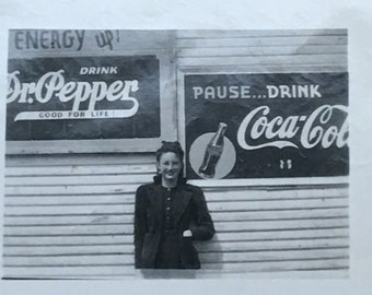 Dr. Pepper or Coca Cola? Hard Choice Vintage Photo