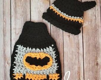 Batman Cuddle Cape Set