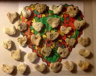 28 Medium/Lg Heart Shape Beach Stones, Home, Garden, Wedding