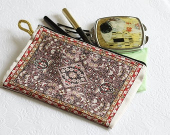 Lilac Coin Purse, Ethnic Pouch, Lilac Purse Wallet, Mini Wallet, Ethnic Fabric, Mini Travel Wallet, Cardholder