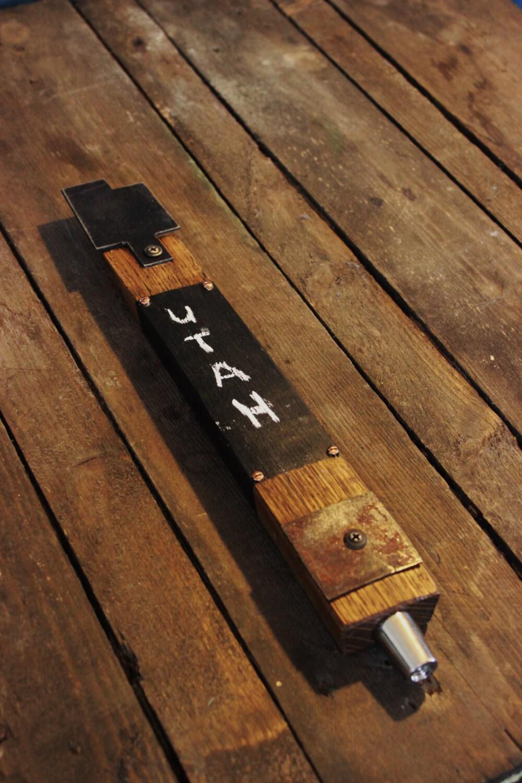 Utah Custom Whiskey Barrel Stave Beer Tap Handle Metal Top