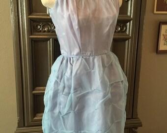 50s Lavender Blue Party Dress