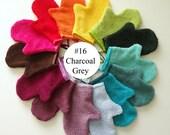 Charcoal Grey Terrycloth Bath Mitt (#16)