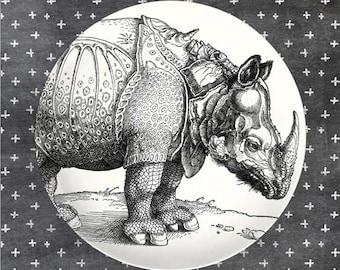 rhino melamine plate #2