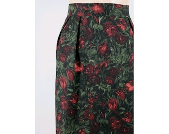 Roses 1950 skirt wool extra small