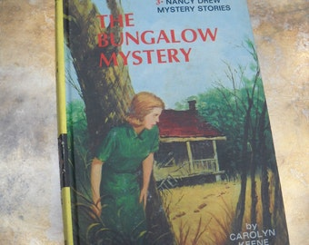 Vintage Nancy Drew Book, The Bungalow Mystery, 1960, Two Available