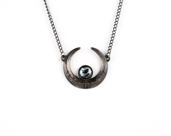 Eclipse Necklace in Slate Steel