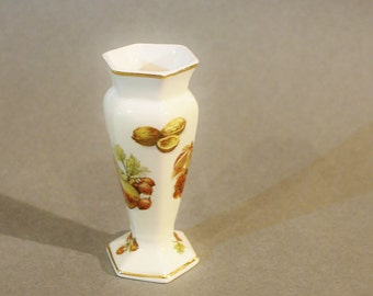 Small Royal Worcester Palissy China Vase Fruit Collection