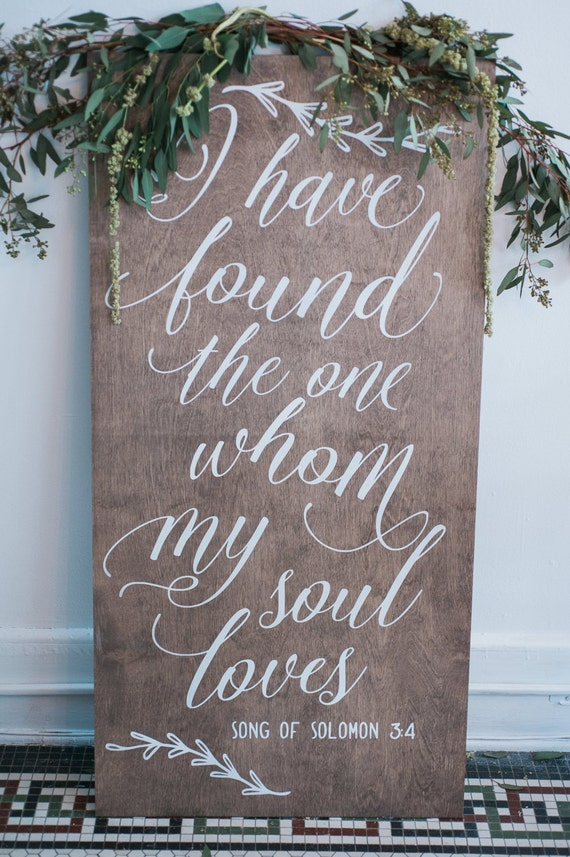 Items similar to wood wedding calligraphy sign for aisle Calligraphy and sign