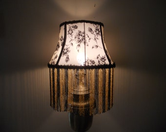 Evening in Paris - Elegant, one of a kind handmade lamp shade with base