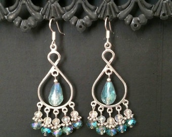 Crystal Chandelier Earring Pair