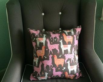 Llama pillow cover. Pillow case. Nursery pillow. Newborn, nursery decoration, decorative pillow cover, pillow sham,