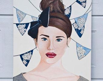 Hydrangea/Acrylic on canvas