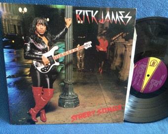 "RARE, Vintage, Rick James - ""Street Sounds"" Vinyl LP Record Album, Original First Press, Super Freak, Give It To Me Baby, Ghetto Life, Funk"