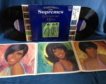 """Vintage, Diana Ross and the The Supremes - """"Greatest Hits"""", Vinyl LP, Record Album, 1967 Motown Original Press, w Poster, Soul R&B Diva"""